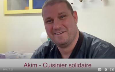 Akim, le cuisinier solidaire.